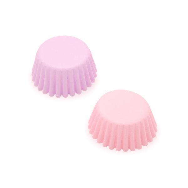 cuocaミニマフィングラシンカラー2色セット(パープル・ピンク) / 80枚 TOMIZ/cuoca(富澤商店) ベーキングカップ グラシンカップ|tomizawa