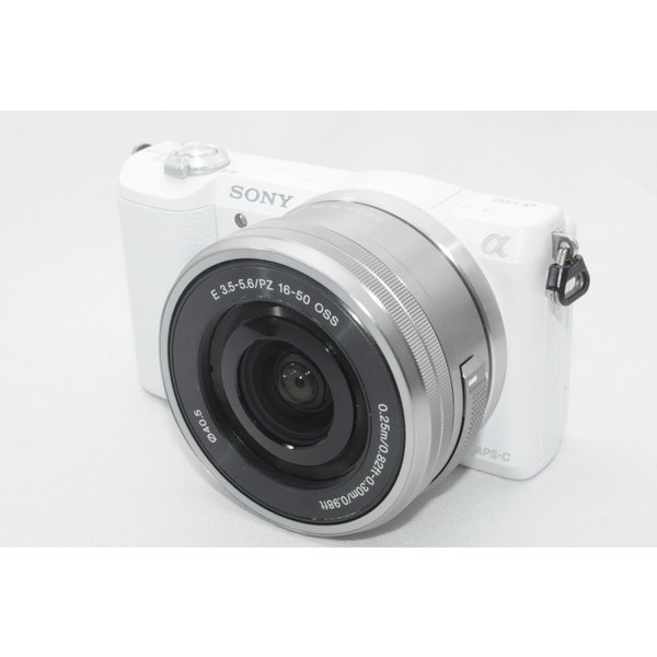 ソニー SONY ミラーレス一眼 α5100 パワーズームレンズキット E PZ 16-50mm F3.5-5.6 OSS付属 ホワイト ILCE-5100L-W