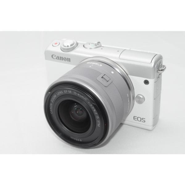 キヤノン EOS M100 EF-M15-45IS STM レンズキット ホワイトの画像