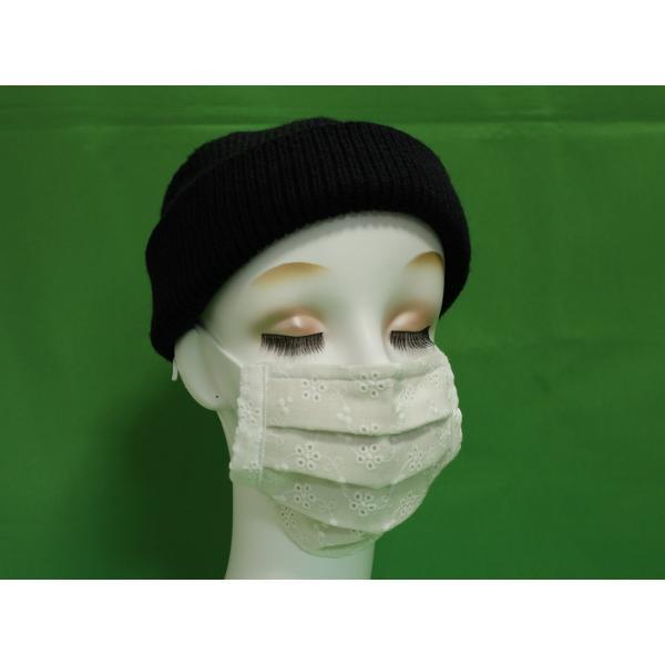 マスク 日本製 布 ガーゼ 肌に優しい 給食 花粉症対策 手洗いOK 手作り自社製造品  肌に触れる所はWガーゼ一枚 綿レースおっしゃれマスク|tomoe3|16