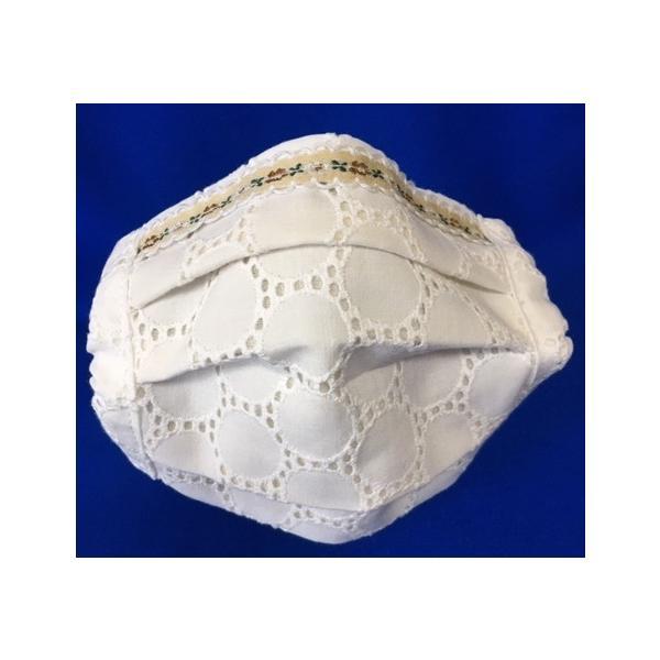 マスク 日本製 布 ガーゼ 肌に優しい 給食 花粉症対策 手洗いOK 手作り自社製造品  肌に触れる所はWガーゼ一枚 綿レースおっしゃれマスク|tomoe3|11