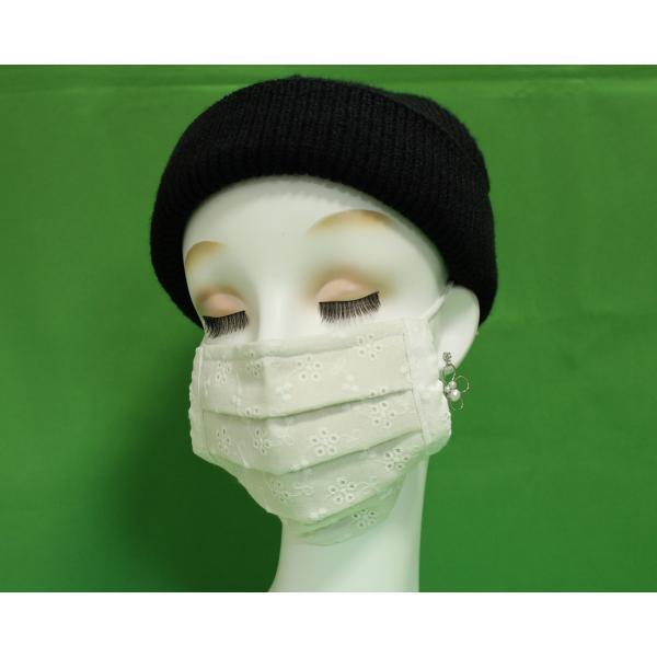 マスク 日本製 布 ガーゼ 肌に優しい 給食 花粉症対策 手洗いOK 手作り自社製造品  肌に触れる所はWガーゼ一枚 綿レースおっしゃれマスク|tomoe3|03