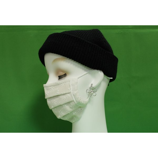 マスク 日本製 布 ガーゼ 肌に優しい 給食 花粉症対策 手洗いOK 手作り自社製造品  肌に触れる所はWガーゼ一枚 綿レースおっしゃれマスク|tomoe3|04
