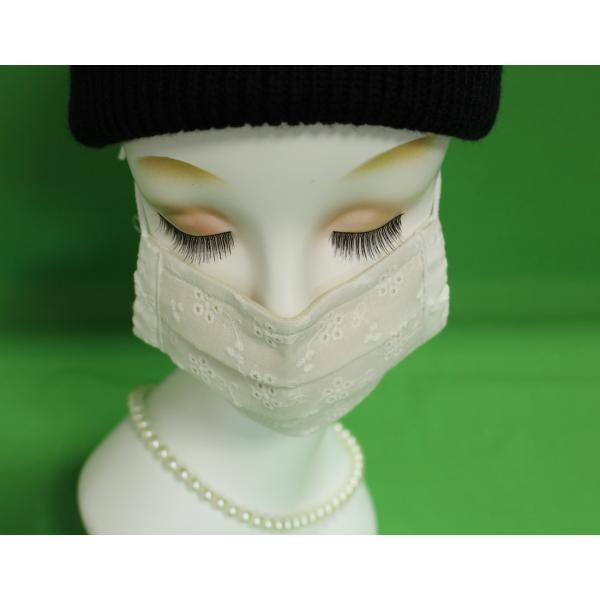 マスク 日本製 布 ガーゼ 肌に優しい 給食 花粉症対策 手洗いOK 手作り自社製造品  肌に触れる所はWガーゼ一枚 綿レースおっしゃれマスク|tomoe3|05