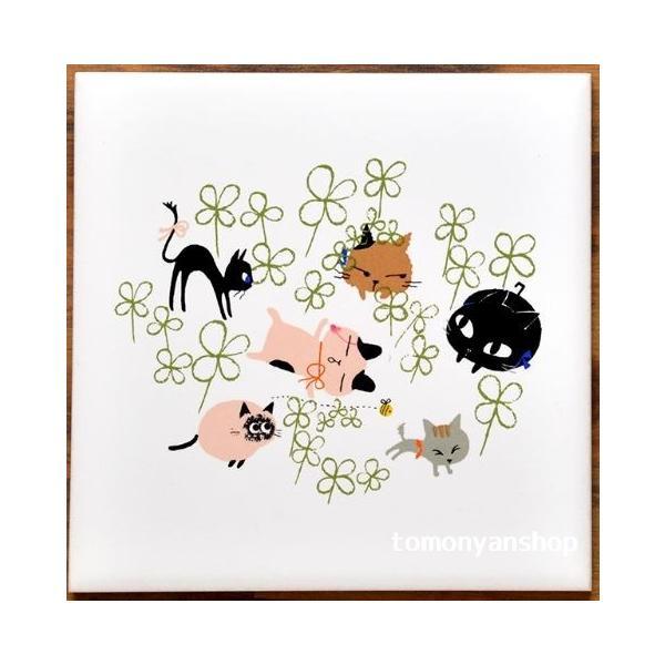 猫雑貨 猫柄 デザインタイル Shinzi Katoh シンジカトウ 選べる 3柄 DIY インテリア 3枚から購入可|tomonyanshop2|02