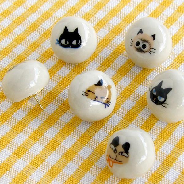 猫雑貨 アニーブンキャッツ プッシュピンセット 画鋲  SHINZI KATOH シンジカトウ|tomonyanshop2|03