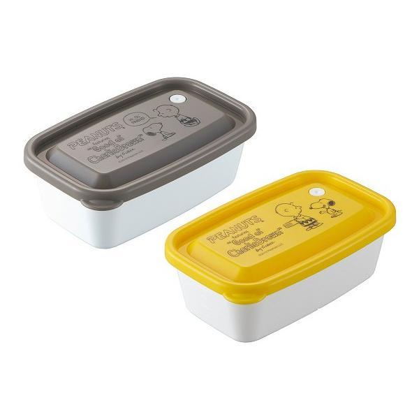 スヌーピー レンジパック 650ml 2個セット 保存容器 密閉 タッパー フードコンテナ 容器 ケース レンジ対応 冷蔵庫 日本製 OSK RP-65B|tomorrow-life