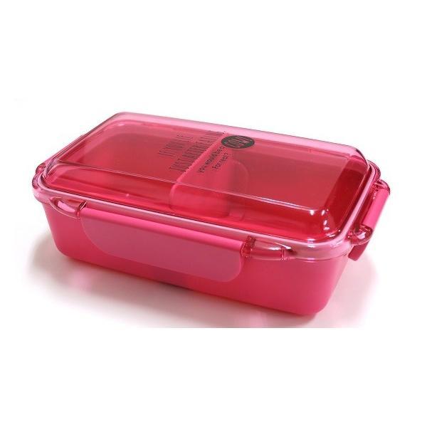ランチボックス お弁当箱 仕切付 1段 500ml おしゃれ 女子 おしゃれ レンジ対応 食洗機対応 ピンク 日本製 OSK PCD-500 tomorrow-life 03