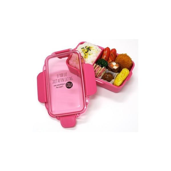ランチボックス お弁当箱 仕切付 1段 500ml おしゃれ 女子 おしゃれ レンジ対応 食洗機対応 ピンク 日本製 OSK PCD-500 tomorrow-life 05