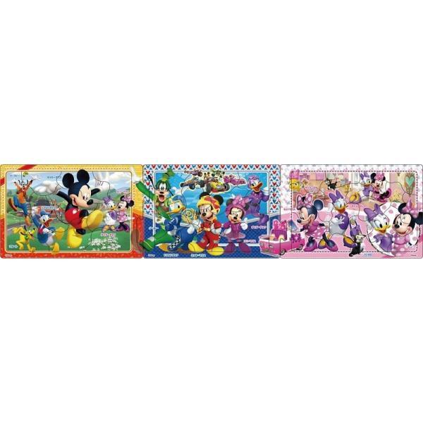 ジグソーパズル 10+15+20ピース 子供向けパズル パノラマパズル ステップ2 ミッキーマウスとなかまたち  24-134(アポロ社)梱60cm|tomozo
