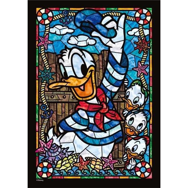 ジグソーパズル 266ピース ディズニー ドナルドダック ステンドグラス ぎゅっとシリーズ ステンドアート (18.2x25.7cm) DSG-266-954(テンヨー)梱60cm