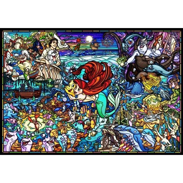 ジグソーパズル 1000ピース ディズニー リトル・マーメイド ストーリー ステンドグラス 【ピュアホワイト】 (51x73.5cm) DP-1000-033(テンヨー)梱80cm