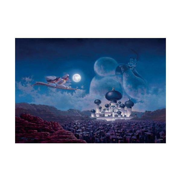 ジグソーパズル 500ピース ステンドアート ディズニー アラジン フライトオーバーアグラバー ぎゅっとシリーズ(25x36cm) DSG-500-436(テンヨー)梱60cm