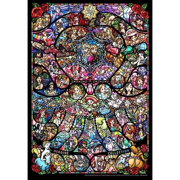 ジグソーパズル 500ピース ディズニー プリンセス ピクサー ヒロインコレクション ステンドグラス ステンドアート ぎゅっとシリーズ DSG-500-489(テンヨー)梱