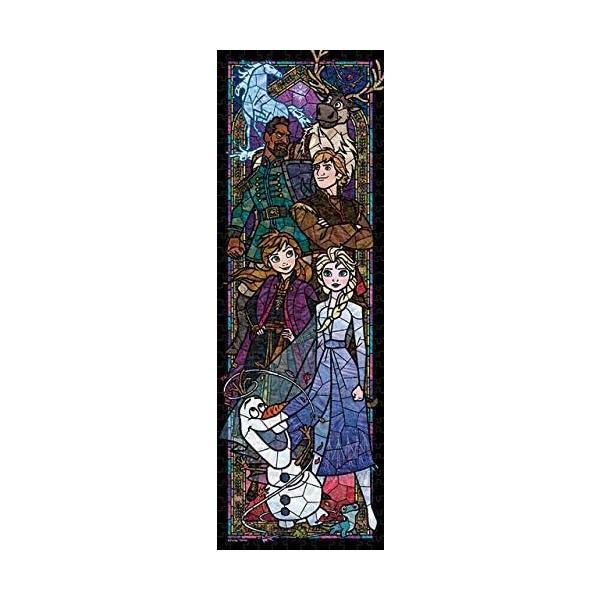 ・ジグソーパズル ジグソーパズル ディズニー アナと雪の女王2 ステンドグラス ぎゅっと456ピース (18.5x55.5cm) DSG-456-739(テンヨー)梱60cm