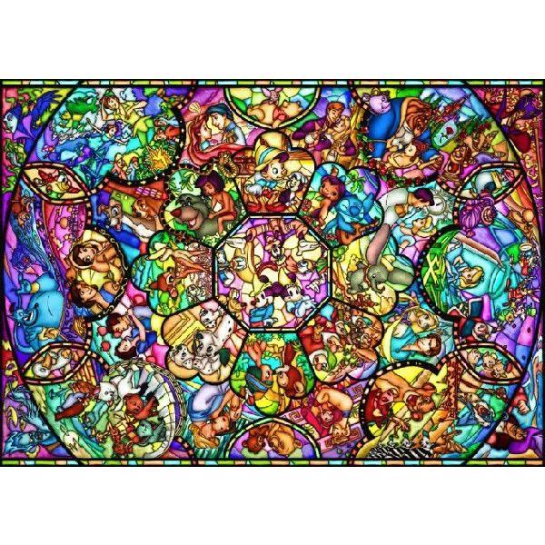 ジグソーパズル 2000ピース ディズニー オールスター ステンドグラス(73x102cm) D-2000-603(テンヨー)梱100cm