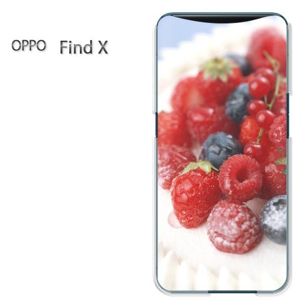 FindX ケース カバー OPPO Find X ゆうパケ送料無料 デザイン  ベリーショートケーキ(A)/findx-M935