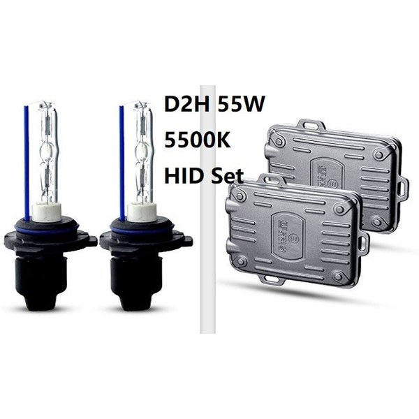 HIDキット D2H 55W 5500K バルブ バラスト付 2本セット 交換用