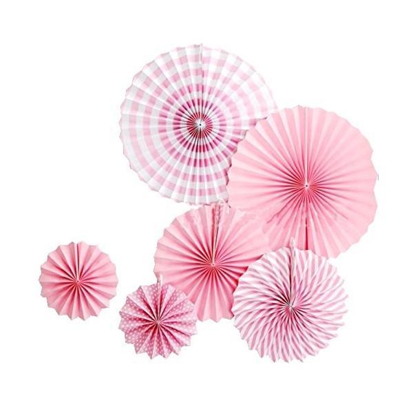 バースデー ガーランド ペーパーファン 12個 セット 誕生日 飾り パーティー ピンク|tonarinostore|02