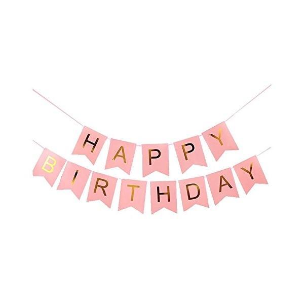 バースデー ガーランド ペーパーファン 12個 セット 誕生日 飾り パーティー ピンク|tonarinostore|03