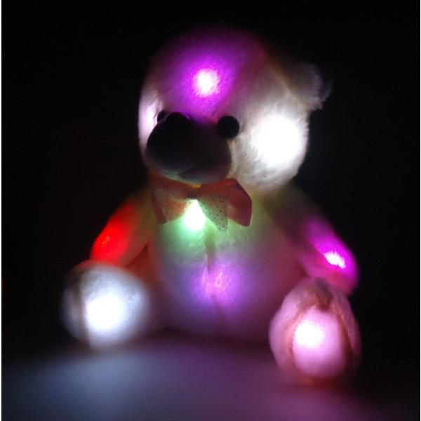 ぬいぐるみ レインボー クマ ふわふわ LED テディベア 誕生日 お祝い プレゼント ギフト|tonarinostore|02