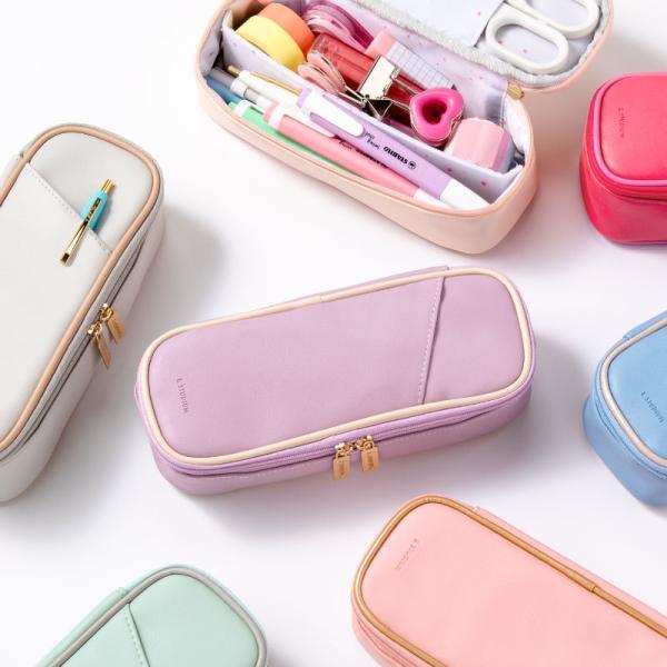 ペンケース 大容量  おしゃれ かわいい シンプル 便利 韓国 女子 人気 ペン入れ 筆箱  スタディプランナー ブランド &studium (gap)|tonary
