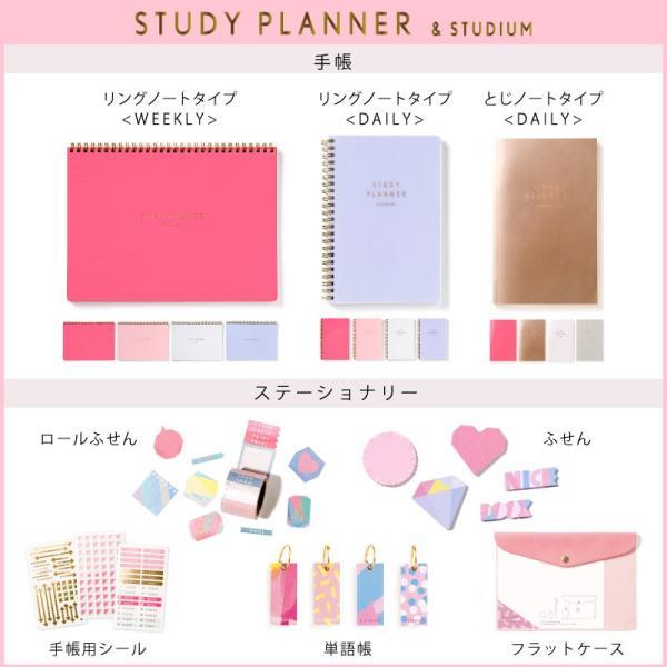 スタディプランナー リングノートタイプ <DAILY> STUDY PLANNER 手帳 勉強 計画 受験 韓国 ステーショナリー スケジュール かわいいおしゃれ ピンク (gssd)|tonary|10