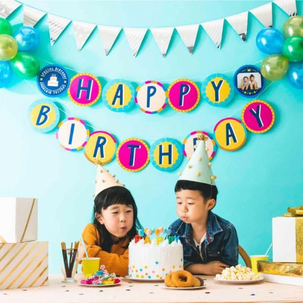 バルーンガーランド 〈BIRTHDAY〉風船 誕生日 パーティー 飾り付け パステル 1歳 2歳 3歳 4歳 5歳 (sbg_01)|tonary|08