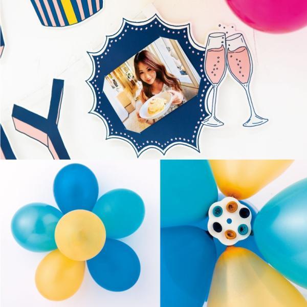 バルーンガーランド 〈BIRTHDAY〉風船 誕生日 パーティー 飾り付け パステル 1歳 2歳 3歳 4歳 5歳 (sbg_01)|tonary|09