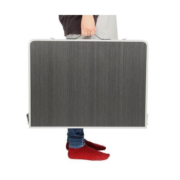 クイックキャンプ アウトドア 折りたたみテーブル 90×60cm モダンブラウン|tono-shop|04