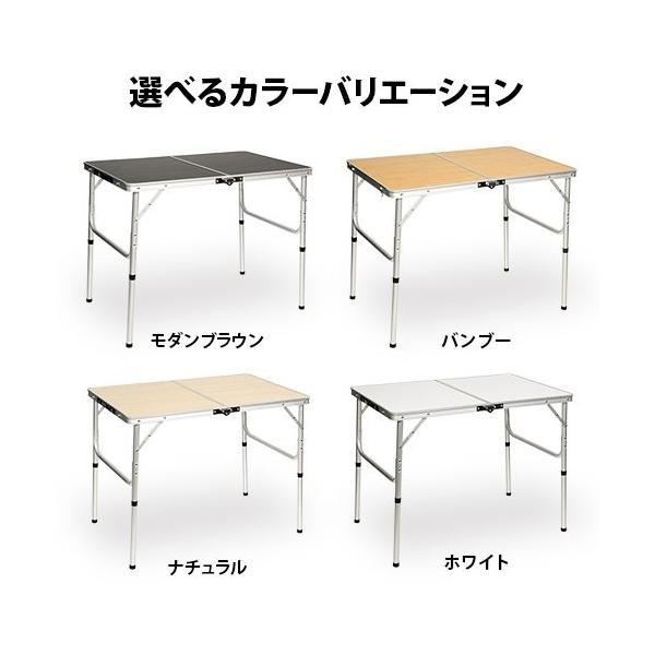クイックキャンプ アウトドア 折りたたみテーブル 90×60cm モダンブラウン|tono-shop|08