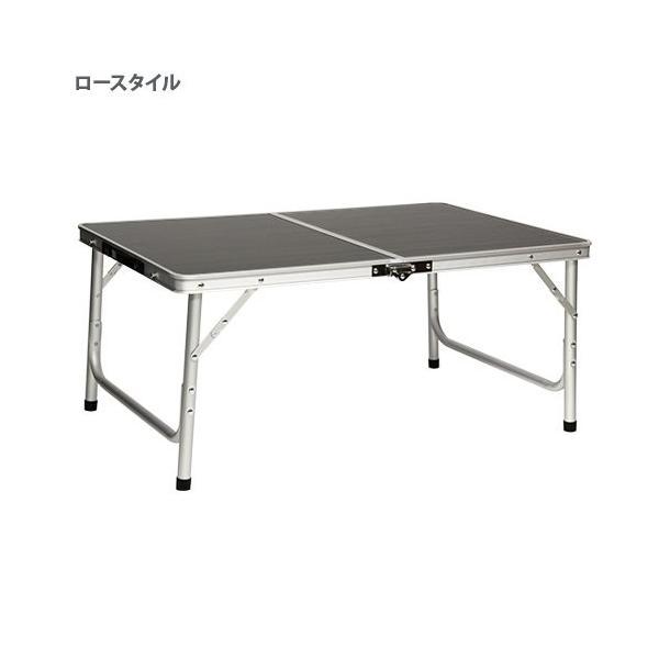 クイックキャンプ アウトドア 折りたたみテーブル 90×60cm モダンブラウン|tono-shop|09