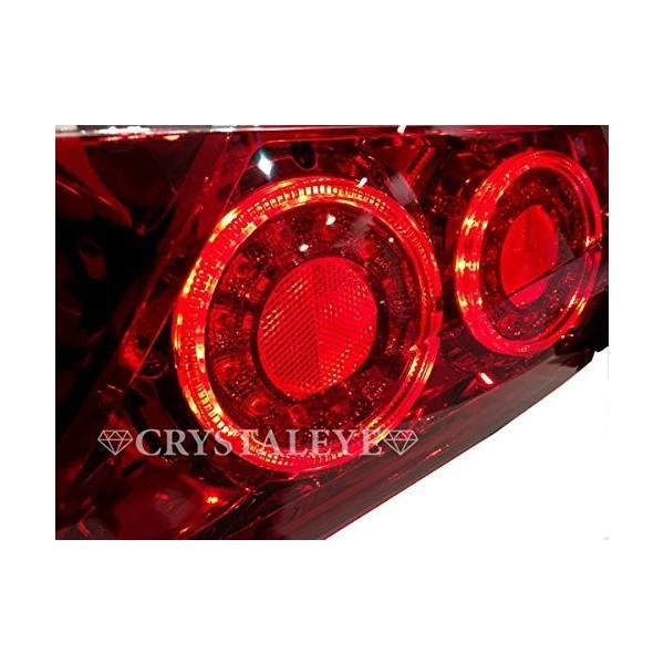 クリスタルアイ CRYSTALEYE 10系 アルファード 後期用 ファイバー LEDテールランプ バルカンタイプ レッドクリアー|tono-shop|05