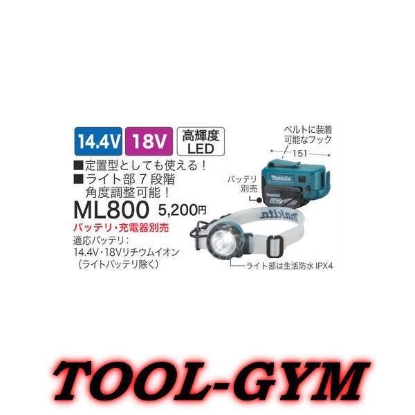 マキタ[makita] 14.4V/18V 充電式ヘッドライト ML800