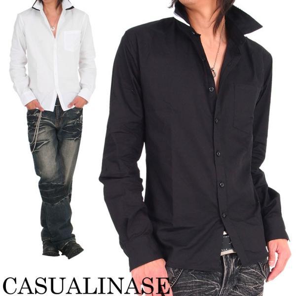 メンズ シャツ メンズ W襟 ブロード 長袖シャツ 7分袖 白シャツ ホワイト メンズシャツメンズファッション 通販|tool-power