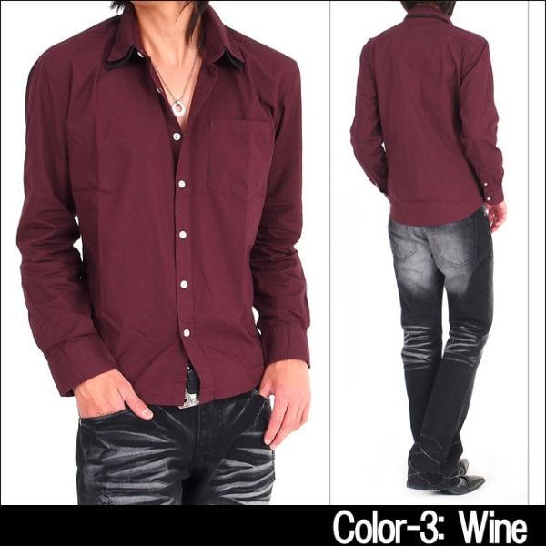 メンズ シャツ メンズ W襟 ブロード 長袖シャツ 7分袖 白シャツ ホワイト メンズシャツメンズファッション 通販|tool-power|06