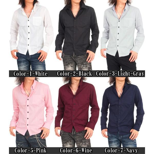 メンズシャツ ボタンダウン ブロード無地 デュエボットーニ ドレスシャツ 長袖 シャツ カジュアル メンズファッション 通販 tool-power 02