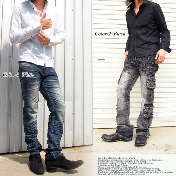 メンズシャツ ボタンダウン ブロード無地 デュエボットーニ ドレスシャツ 長袖 シャツ カジュアル メンズファッション 通販 tool-power 04