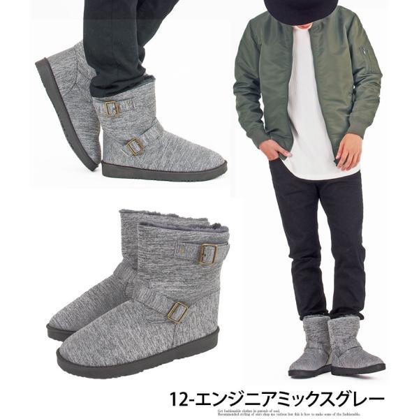 ムートンブーツ メンズ ブーツ エンジニアブーツ ショートブーツ インヒール付 裏ボア 裏起毛 サイドジップブーツ 無地 靴 秋冬 暖か 防寒 ファスナー|tool-power|10