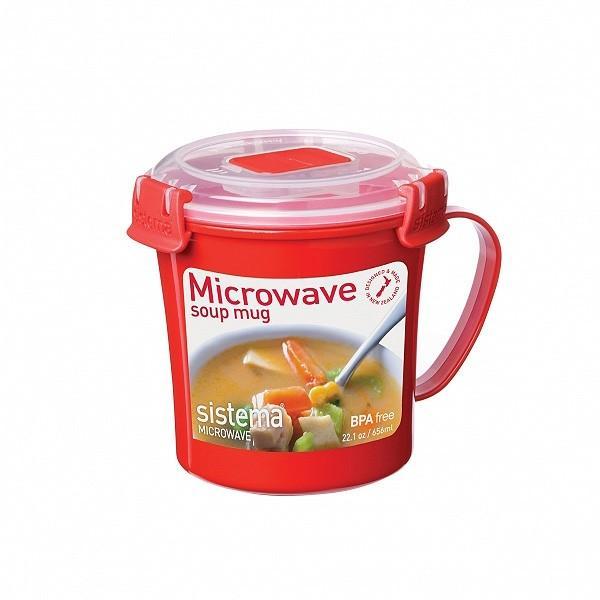 システマ SiStema MICROWAVE マイクロウェーブ システマ マイクロウェーブ スープマグ656(600ml) 11077|toolandmeal
