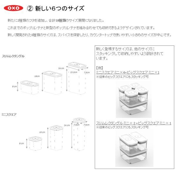 保存容器 スターター 3ピースセット ポップコンテナ2 POP2 オクソー OXO 11241300|toolandmeal|08