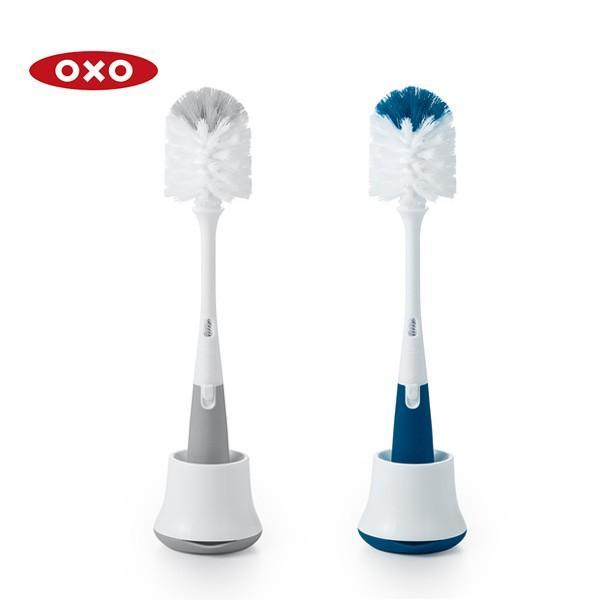 OXO オクソー ボトルブラシスタンド&ミニブラシ付|toolandmeal