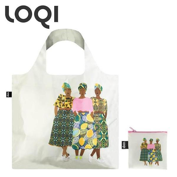 LOQI ローキー ARTIST Collection アーティスト コレクション エコバッグ セレステ ワラート/グリズ バンド CW.GB|toolandmeal