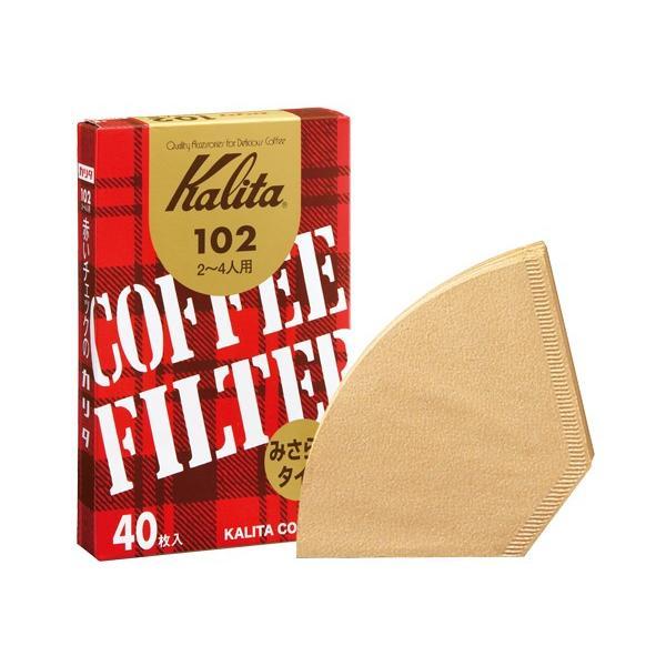 102濾紙 ブラウン箱入り40枚 カリタ Kalita