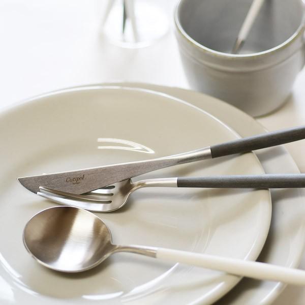 テーブルナイフ クチポール ゴア ホワイト シルバー Cutipol GOA GO.03W|toolandmeal|04