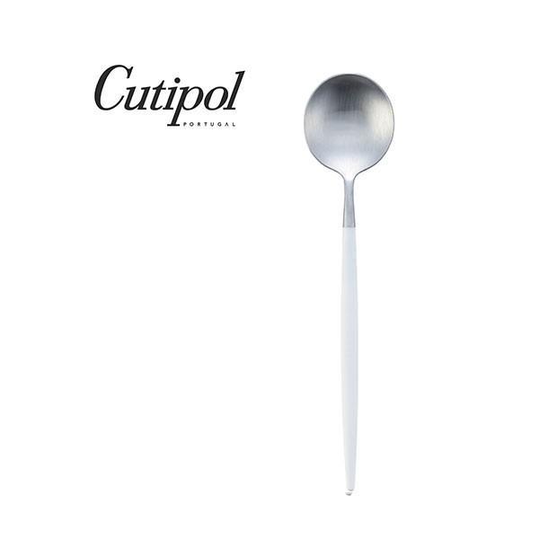 デザートスプーン クチポール ゴア ホワイト シルバー Cutipol GOA GO.08W|toolandmeal