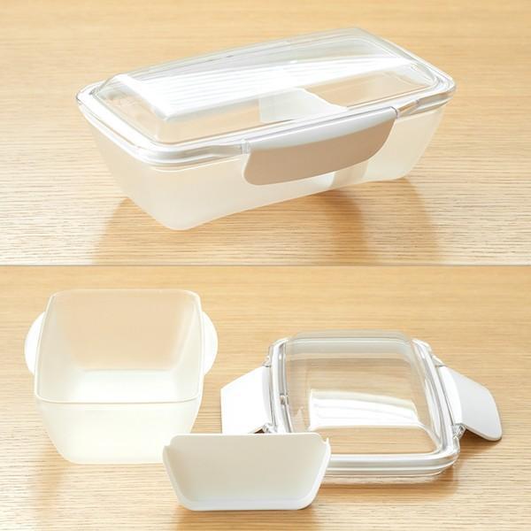 弁当箱 ランチボックス ドーム型 プレミアムドームランチボックス 日本製 透明 500ml 新素材TPX(R) おしゃれ ピクニック 電子レンジ可 KLBTL5 単品|toolandmeal|03