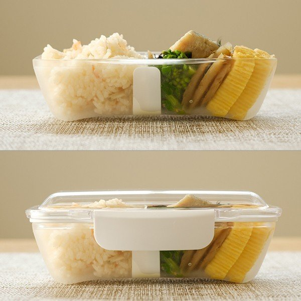 弁当箱 ランチボックス ドーム型 プレミアムドームランチボックス 日本製 透明 500ml 新素材TPX(R) おしゃれ ピクニック 電子レンジ可 KLBTL5 3個セット toolandmeal 02