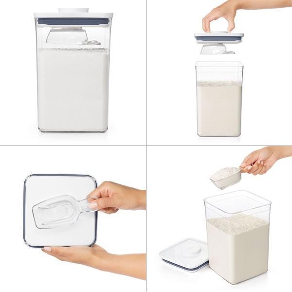 保存容器 ポップコンテナ2 大容量オススメ当店限定セット おまけ:ポップスクープ付 POP2 オクソー OXO|toolandmeal|04