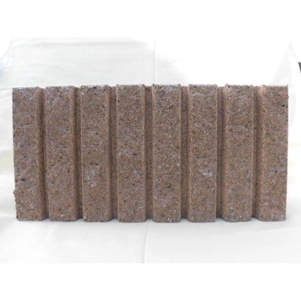 国分 化粧ブロック リブスプリット 片面 基本横筋兼用 ブラウン